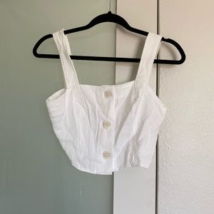White crop top from vici